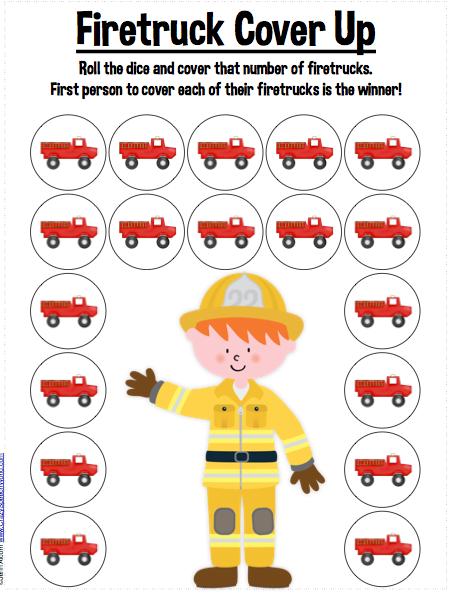 Speechie Freebies: Firetruck Cover Up!