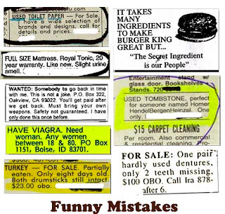 funny mistakes