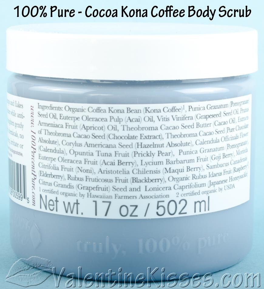 Pure Cocoa Kona Coffee Body Scrub