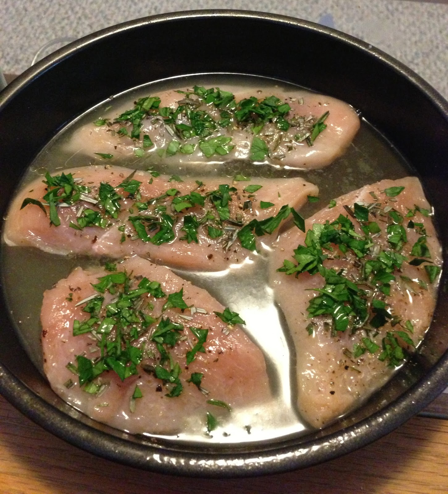 Baked Chicken 3 Points Plus Per Serving 1 Spray(s) Cooking Spray 1 Pound(s)  Uncooked Boneless Skinless Chicken Breast(s), Four 4 Oz Halves