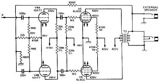 Circuito Amplificador : Valvulares circuitos circuito amplificador de potencia