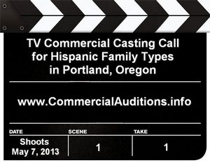 TV Commercial Open Casting Call
