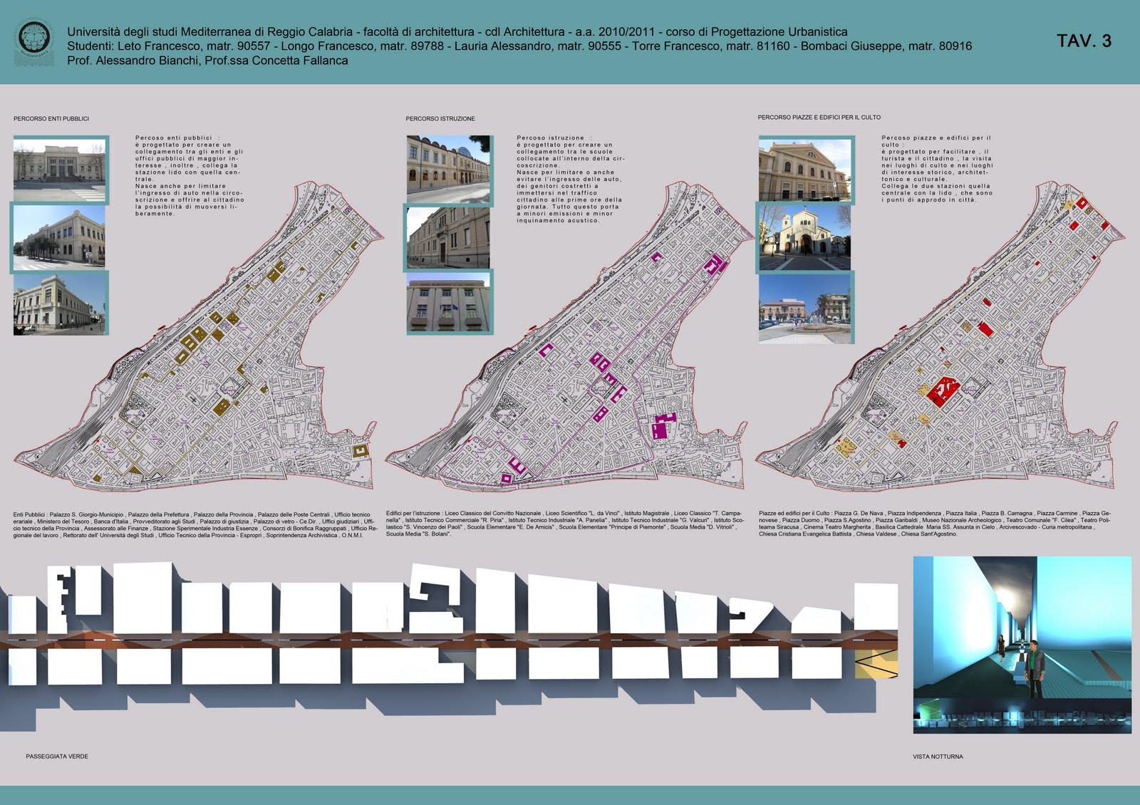 Laboratorio di progettazione urbanistica c fallanca for Progettazione di architettura online