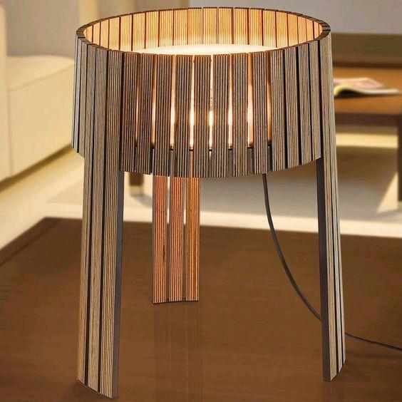 luminária reutilize madeira