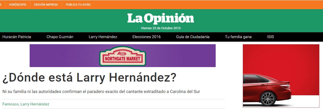 where is larry hernandez - Larry Hernandez House
