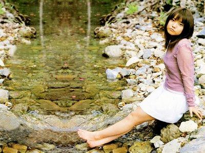 In den Augen offenbart sich die gesamte Emotion: Japanische Frau in ...