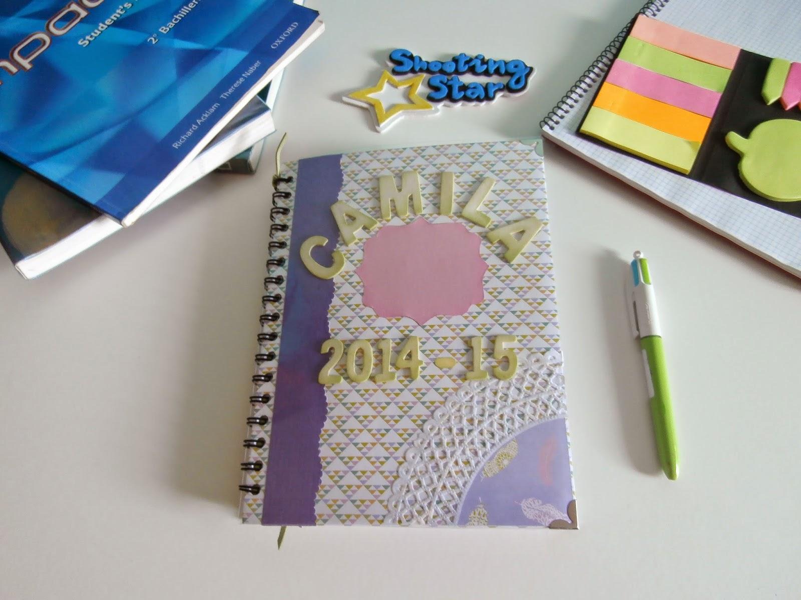 agenda escolar scrapbooking