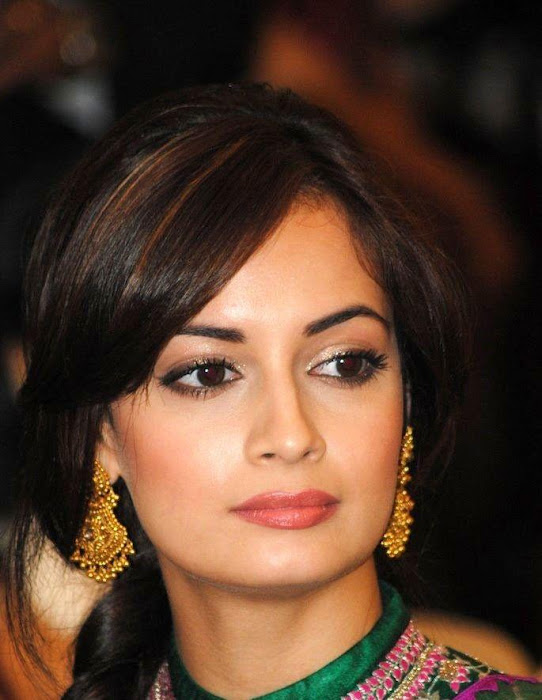 dia mirza in green saree hd hot photoshoot