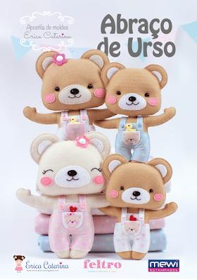 Apostila de Moldes GRATUITA: Abraço de Urso