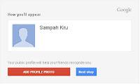 Tambah Foto Profil Blog