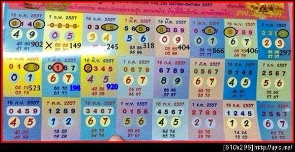 Thai Lotto Yearly Touch Tip paper 01-07-2014