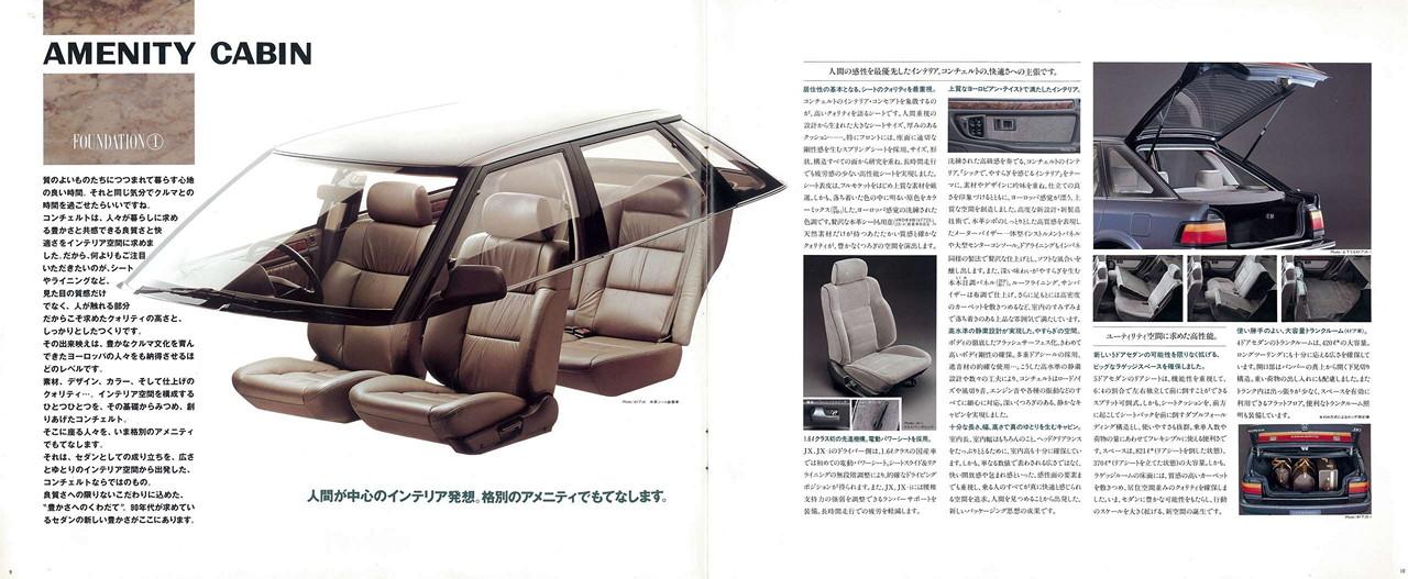 Honda Concerto, wnętrze, środek, interior, fotele, tapicerka, wyposażenie, samochody z lat 90
