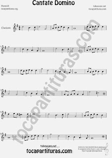 Cantate Domino  Partitura de Clarinete Sheet Music for Clarinet Music Score