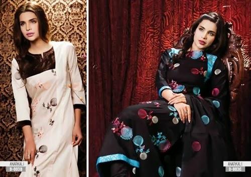 Sitara Anarkali Embroidery 2014