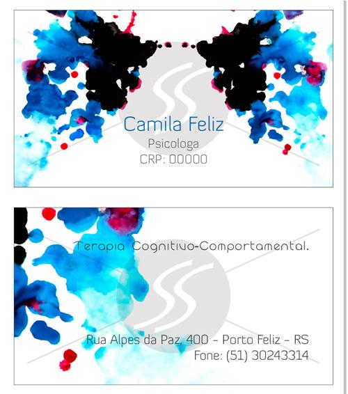 Cartões de Visita Cérebro Psicologia