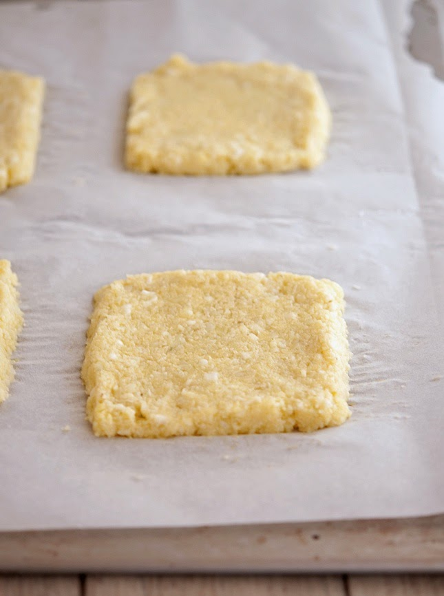 Making cauliflower crust grilled cheese