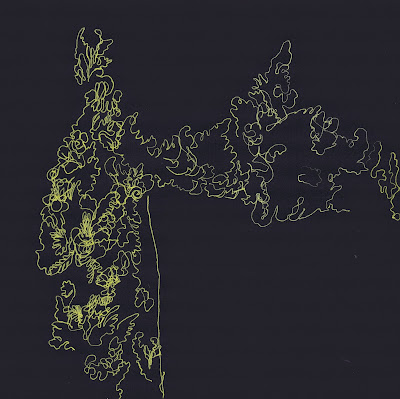 laos, blind contour drawing