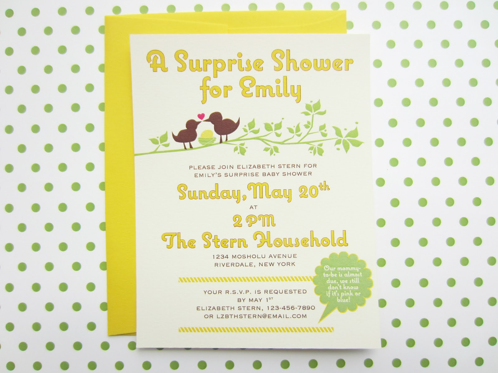 things i make and stuff i like: surprise baby shower invitation