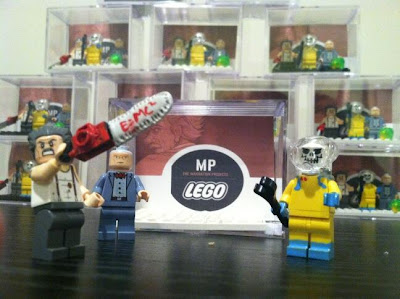 San Diego Comic-Con 2013 Exclusive The Manhattan Projects Custom LEGO Mini Figures Series 1 by Nick Pitarra - Albert Einstein, Joseph Oppenheimer & Harry Daghlian