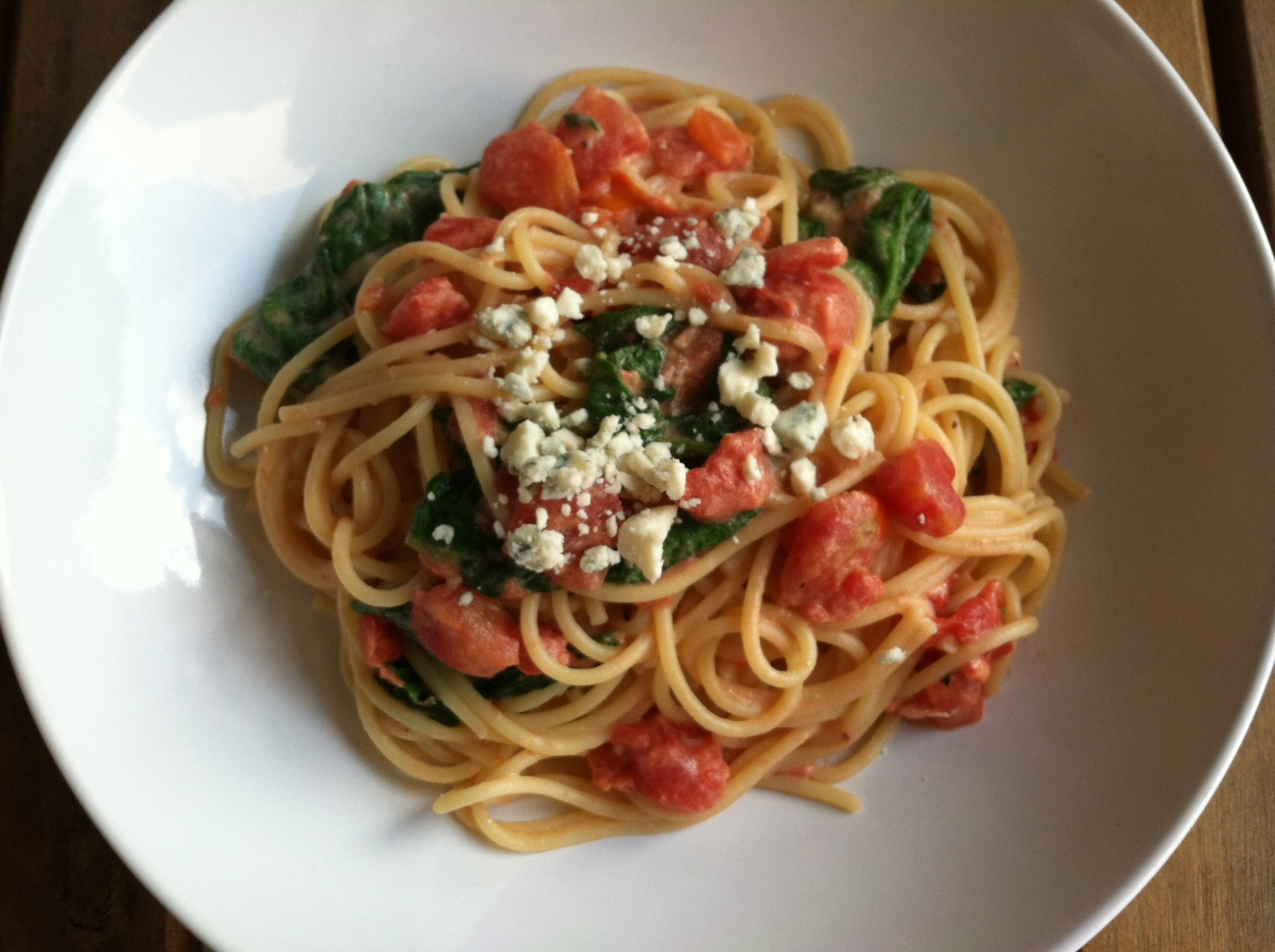 ... of Home Cooking: Recipe Swap: Pasta with Tomato-Blue Cheese Sauce
