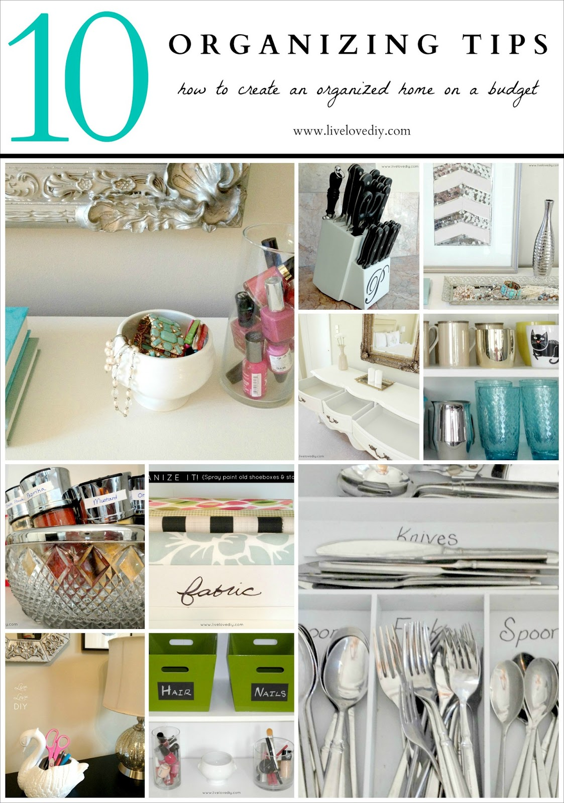 Livelovediy how to organize 10 diy organizing solutions Organizing your home
