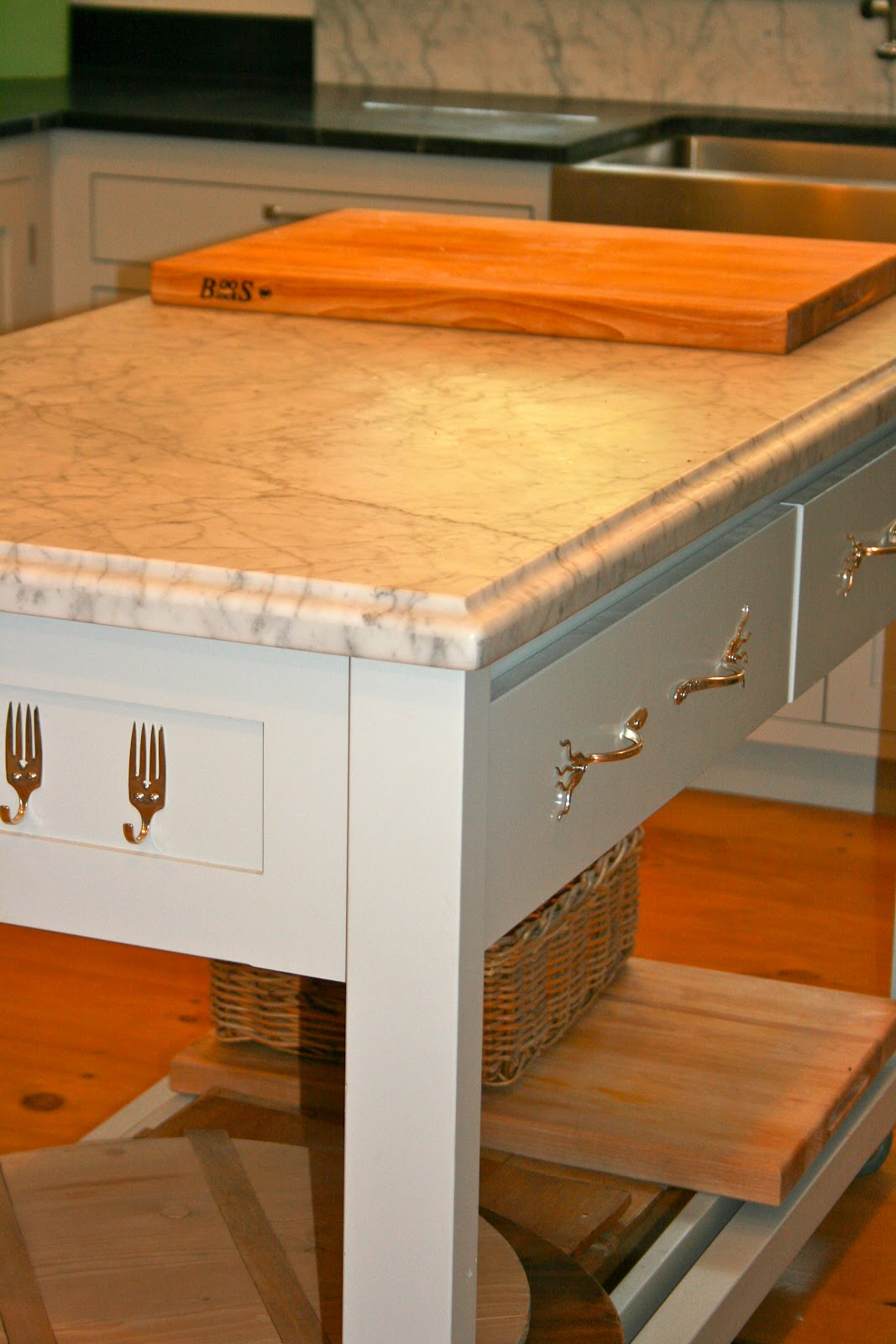 The Polished Pebble Movable Kitchen Islands