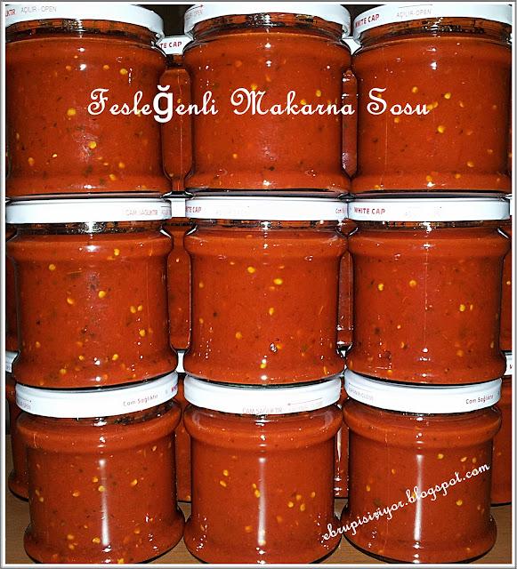 domates sos,fesleğenli domates sos, makarna sosu