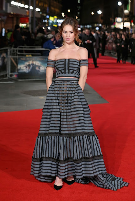 Actress, @ Lily James - 'Pride And Prejudice And Zombies' Premiere in London