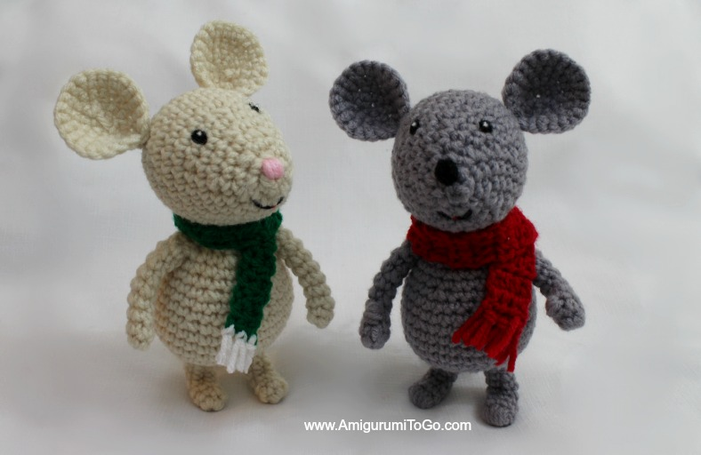 Amigurumi I To Go : Winter Mouse and Sled ~ Amigurumi To Go