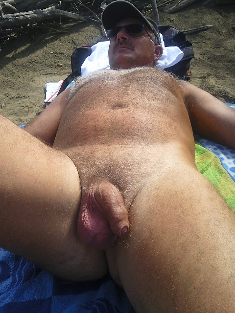 Naked old guys beach hairy
