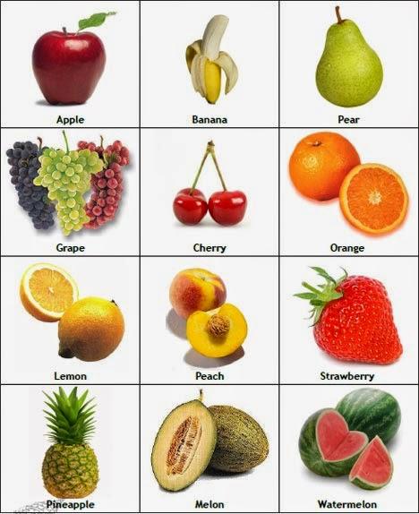 Im genes y nombres de frutas en ingles material para for Comidas con d