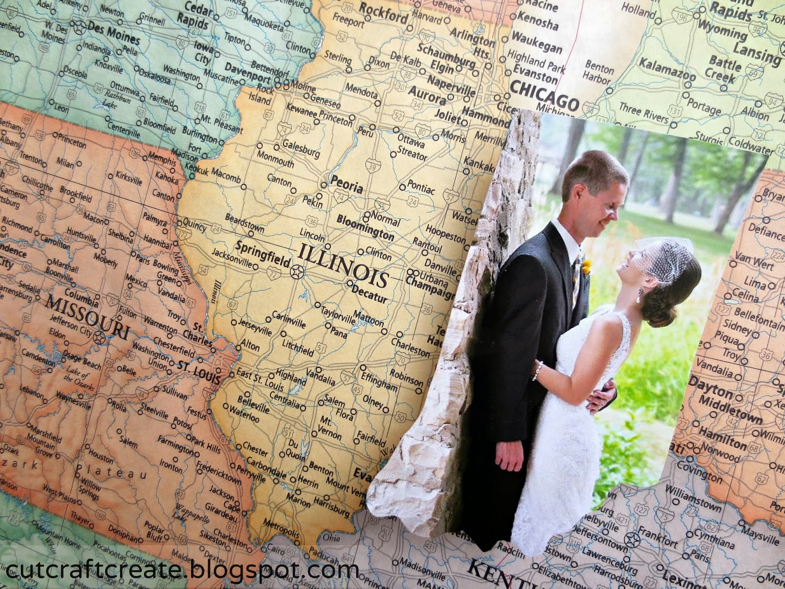 Cut Craft Create Personalized Photo Map for our Paper Anniversary