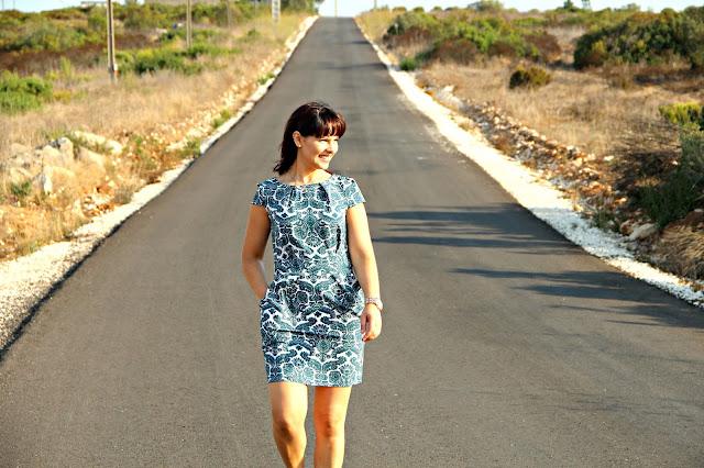 Paisagem Senhora do Monte, Leiria. Último look de verão. Vestido Aliexpress.