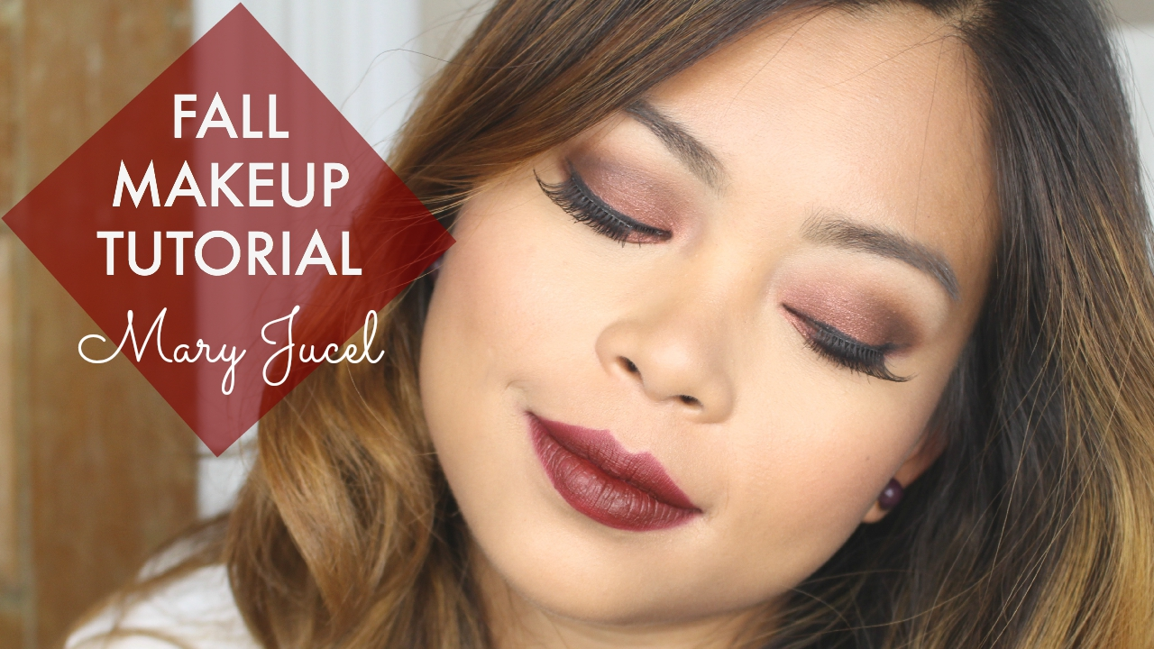 Mary Jucel Burgundy Rustic Red Fall Makeup Tutorial Youtube Video