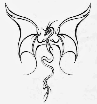 Free Dragon Tattoo Stencils