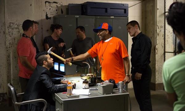 Josh Brolin y Spike Lee en el rodaje de Oldboy