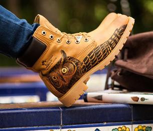 nuevas botas Panama 03 estampado naturaleza