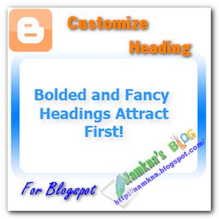 Thủ thuật tùy chỉnh Heading Style cho Blogger & Wordpress - Tùy chỉnh tags heading