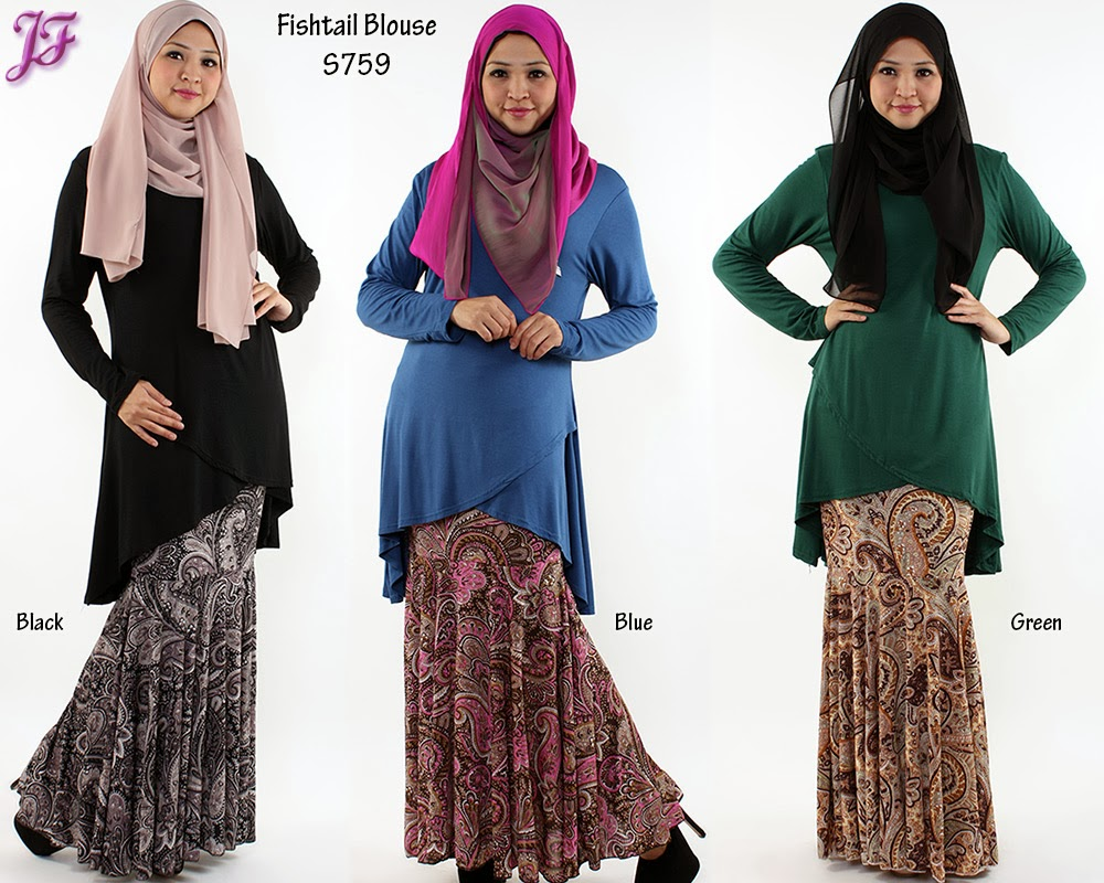 BEST SELLING COTTON FISHTAIL BLOUSE S759