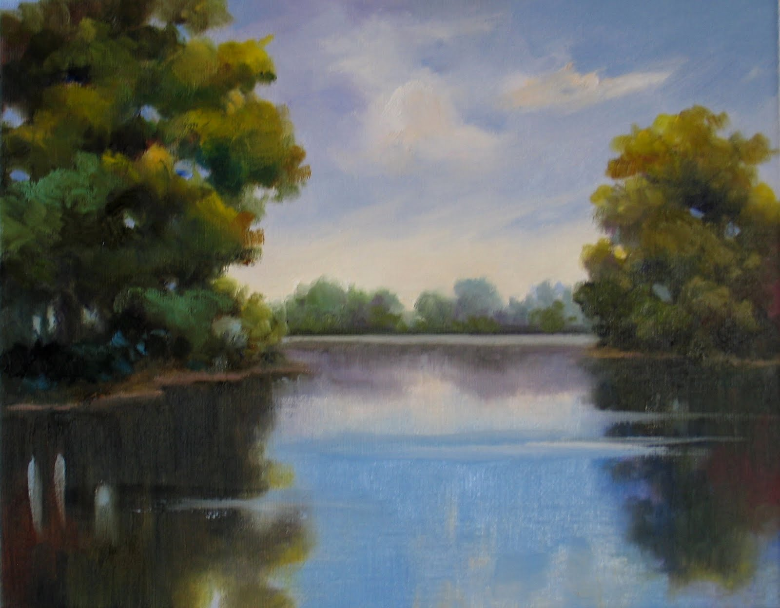 Simple Landscape Paintings Pictures To Pin On Pinterest