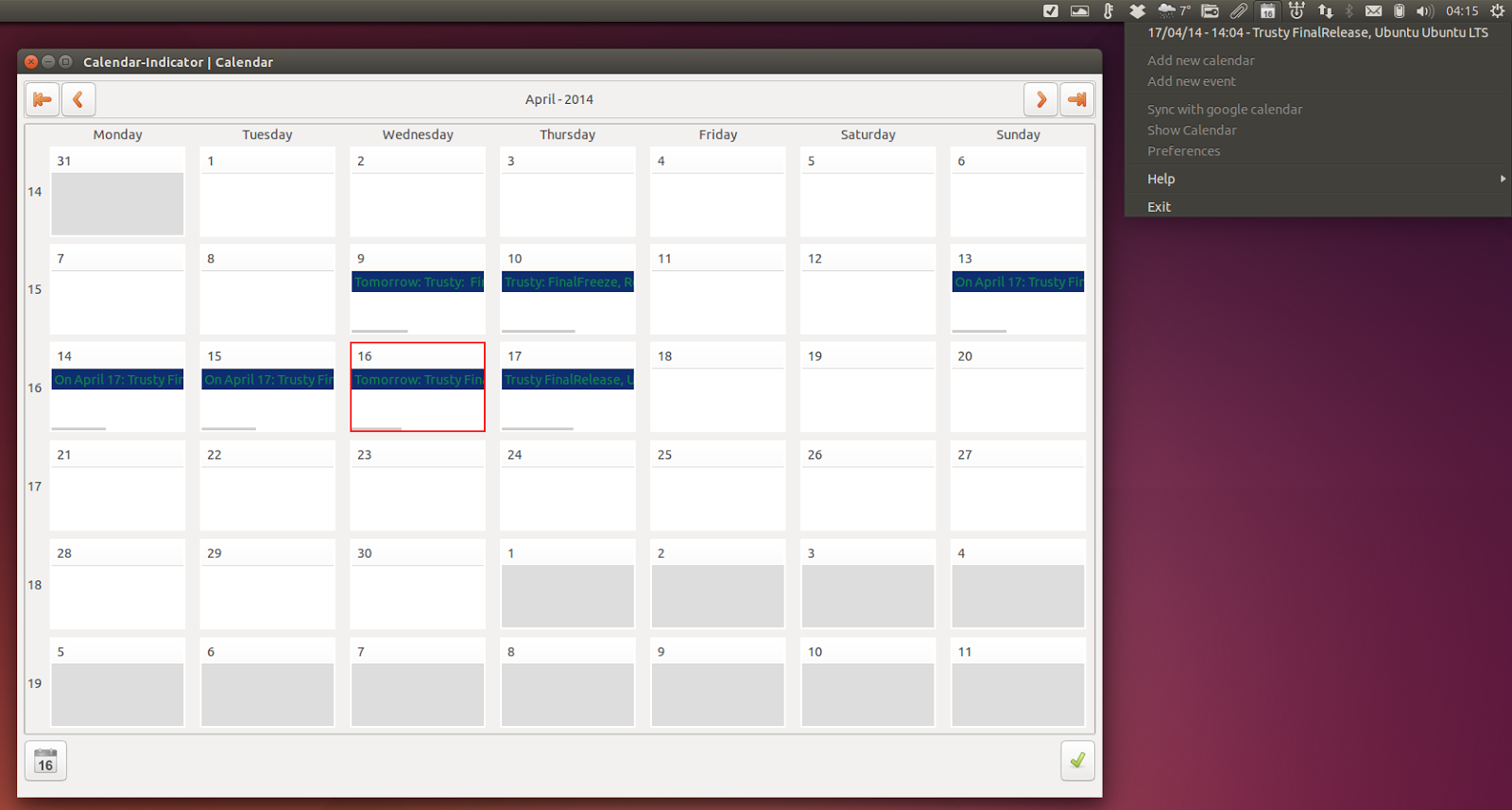 Google Calendar Wallpaper Ubuntu : Jfn linux project things to do after installing ubuntu