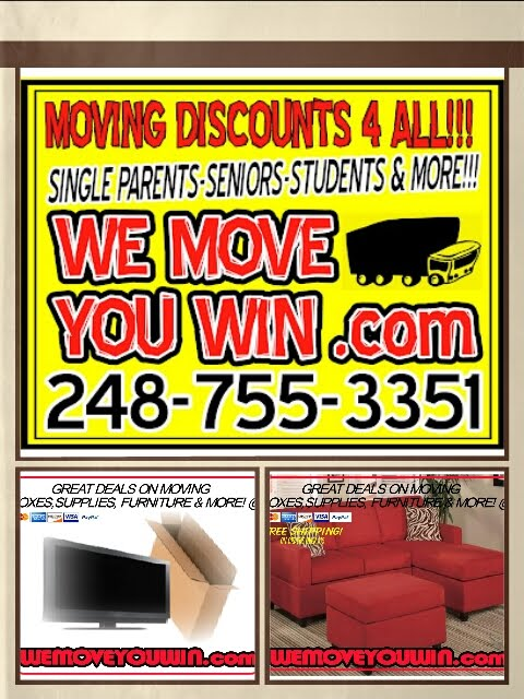 DISCOUNT MOVERS, BOXES, FURNITURE &amp; MORE!