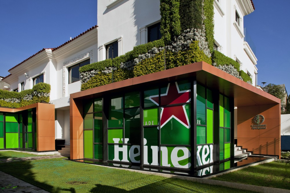 Marzua heineken house m xico por art arquitectos for Bares en ciudad jardin