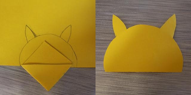 5ème étape marque page Pikachu DIY back to school