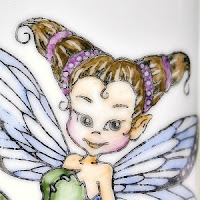 fairy stamped on chinaware