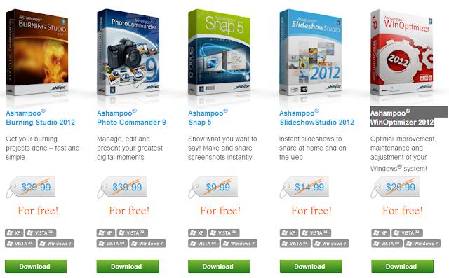 خمسة برامج بقيمة 125 دولار تتحيها شركة آشامبو للتحميل مجانا [عرض محدود]
