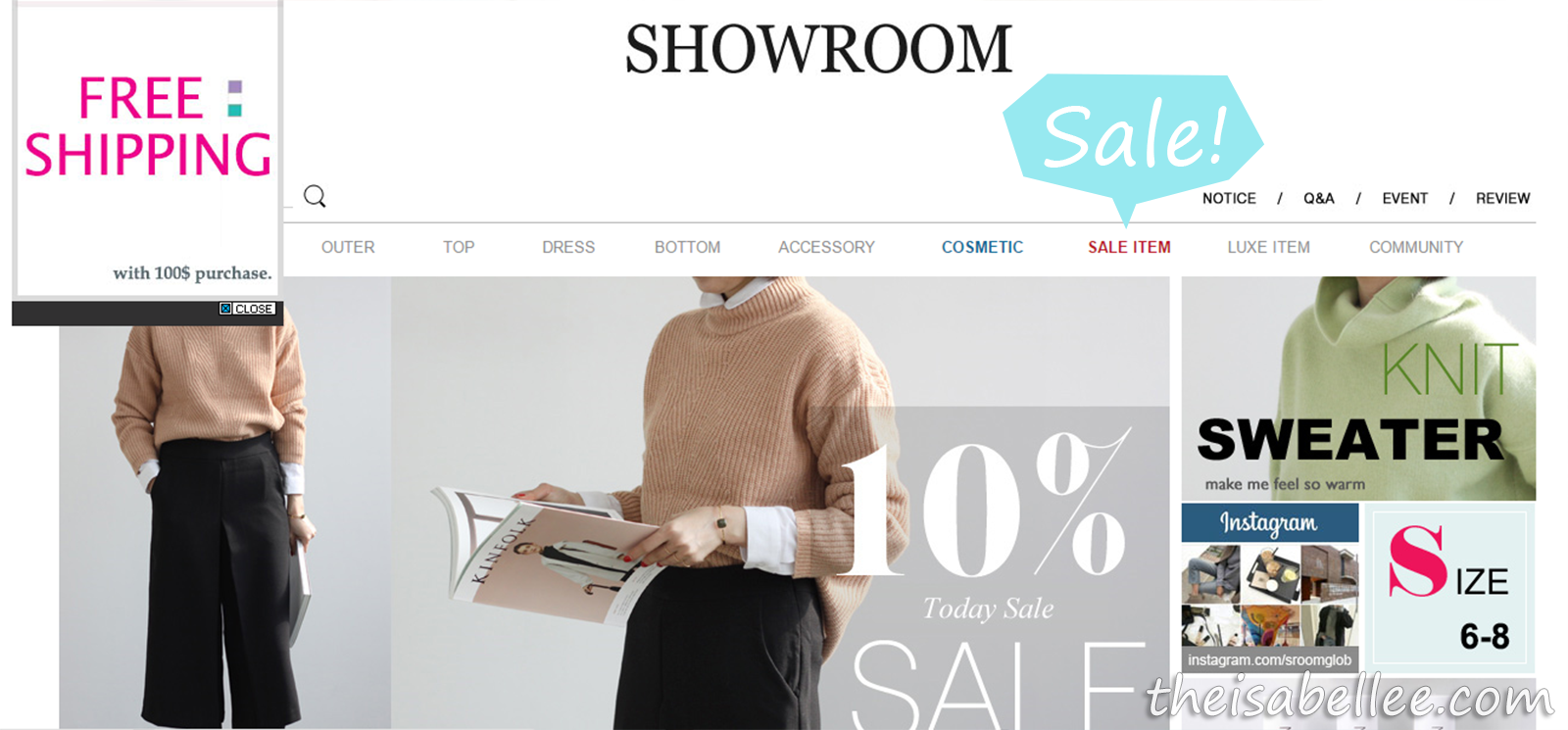 Showroom Korea Sales item and free shipping