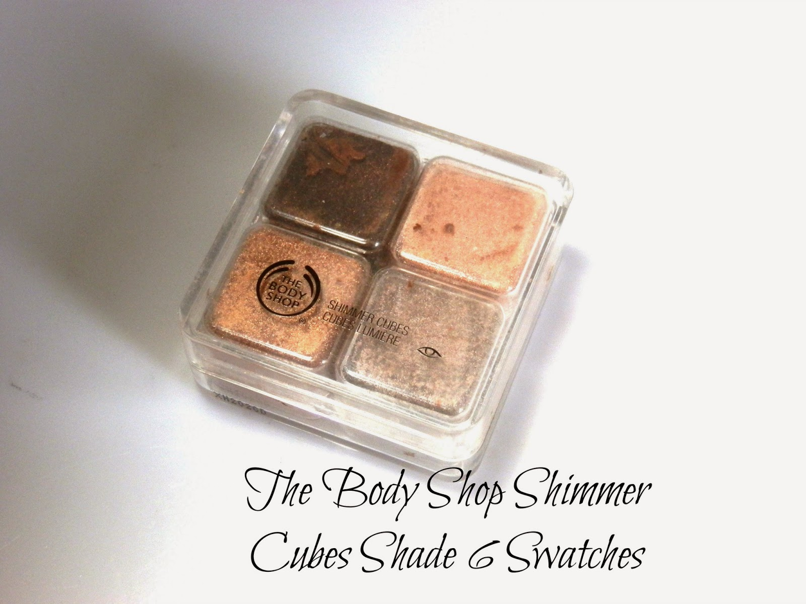 The Body Shop Shimmer Cubes Shade 6 Swatches