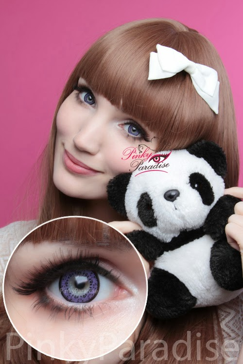 Baby Panda Violet Cosmetic Contacts
