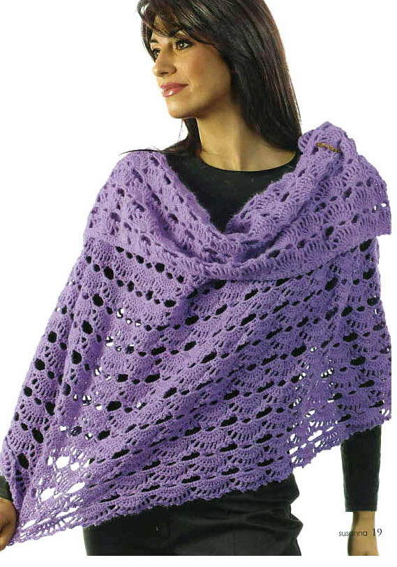Knitted Shawl Patterns Free : Knitting Patterns Free: Shawl Patterns